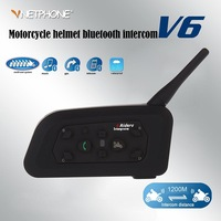 Free shipping 1 pair BT 1200M Motorcycle Helmet Bluetooth Intercom Headset Connects upto 6 riders intercomunicadores de motos