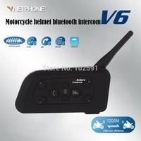 Free shipping 1 pair BT 1200M Motorcycle Helmet Bluetooth Intercom Headset Connects upto 6 riders intercomunicadores de motos