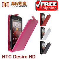 3color,High Quality leather case for HTC Desire HD G10 A9191,Doormoon cowhide cover,Freeshipping