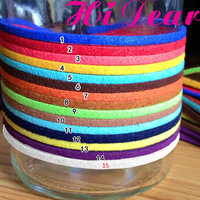 2.7mm*1m Mix Colour Flat Faux Korean Suede Velet Leaterh Cord Ropes Wires Jewelry DIY Handmade Making Findings Accessories /R1
