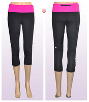 2014 HOT  SALE Women's RUN FOR YOUR LIFE crop DISCOUNT lululemon crop wholesale lulu lemon yoga crop /crops shiping free