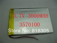 3.7V 3000mAH Li-ion( Polymer lithiumion) battery for 7 inch tablet pc ICOO D50 D70 PRO II ,Q88,teclast,onda,vido 35*70*100mm