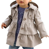 2013 New,Girl autumn/spring casual coats,baby fashion outerwear/jackets,with cap,0-5 yrs,5 pcs / lot,wholesale kids clothing