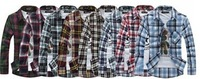 FREE SHIPPING New Mens Fit Button Down Casual Slim Shirt Plaid & Checked Flannel Woven Shirts
