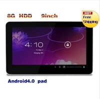 New 9 inch Android 4.0 Allwinner A13 Cortex A8 512MB 8GB Capacitive Screen Tablet PC