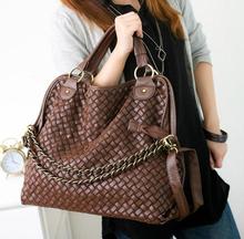 2014 high quality chain knitting women bag shoulder bag messenger bag handbag women's hot-selling female bags(China (Mainland))
