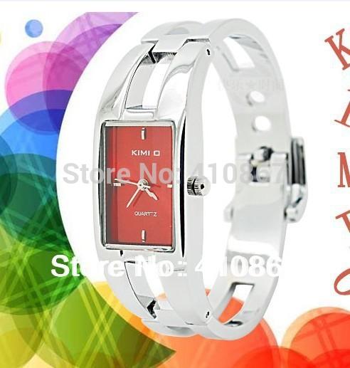 Free shipping fee Massive black stainless steel luxury jewelry bangle women Wrist Watch kimio watch 5pcs