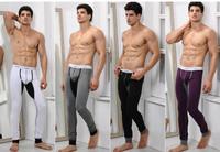 Fashion and comfortable men cotton U convex warm long thermal underwear -long johns pants Free shipping