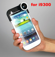 Factory price camera  front fish eye lens+wide +macro lens+Fisheyes lens for Samsung Galaxy s3 i9300 4 in 1 lens,10pcs/lot