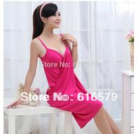 Summer New Rayon Sling Multi-color Optional Creative Life Variety Magic Bath Towel Beach Dress