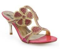 2013 rhinestone slippers rhinestone slippers summer sandals women's shoes eyb13