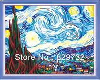 JIUJIU DIY digital oil painting Free shipping arcylic paint 40X50cm Starry Night paint by number