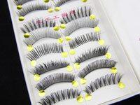 New 2013 10 Pairs individual False Eyelash Extension Natural Long Mixed Loading H-01# Free Shipping