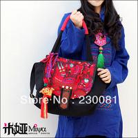 2013 Fashion Handbag New Arrival! Famous Brand Embroidery Tassel Bag Vintage Ethnic Style Handbag/Shoulder bags
