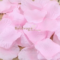 1000pcs Baby Pink Silk Rose Petals Wedding Flower Confetti Party Table Bed Decorations Free shipping