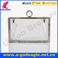 Free shipping! 2013 Fashion brief  transparent designer smile fashion evening clutch ring acrylic bag for woman