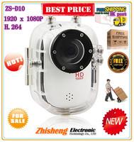 Mini HD DV 1.5 LCD Display 140 Degree Wide Angle Waterproof Video Camera Sports Cam DV Recorder White