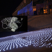 5pcs/lot  Led net light christmas decoration lighting , garden/ wedding background light white 3x3 meters 400 LEDs Free shipping