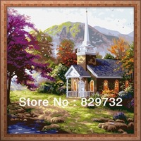 JIUJIU DIY digital oil painting Free shipping the picture unique gift 40X40cm Beautiful home paint by numbers