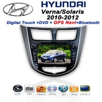 Hyundai Verna Solaris Car DVD(android optional) MP3 Player With Navigation GPS audio Radio Bluetooth/TV,digital touch scree