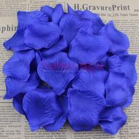 1000pcs Royal Blue Sapphire Color Silk Flower Rose Petals Wedding Banquet Adornment Favor Table Decorations Free shipping