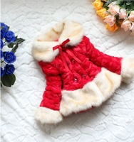 Free shipping autumn and winter explosion models classic imitation fur thick fur coat children's clothing wholesale girls