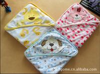 Free shipping 1pcs/lot 100% cotton cute blanket baby carter swadding soft children animal blanket baby cartoon bath towel