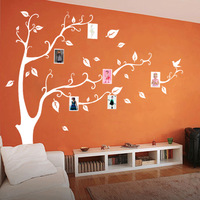 Nine nine tree gray white black hollow wall waterproof photography Stickers, 90585
