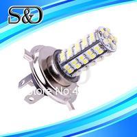S&D Brand 12pcs H4 68 SMD Pure White Fog Signal Tail Driving 68 LED Car Light Lamp Bulb parking