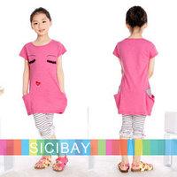 New Fashion Cute Dress Baby Girl Clothes Summer Dress Children's Stylish Mini Dress,EYES Design,Free Shipping  K0379