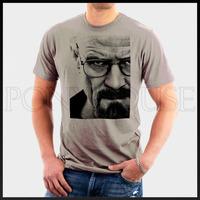 free shipping Big face deadly poison teacher BREAKING BAD T-shirt men short sleeve cotton Lycra top
