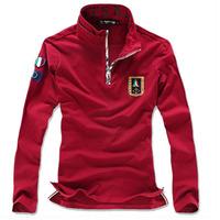 Hot sale High Qualtiy Air Force NO.1 Embroidery design men t shirts long sleeve dress shirts free shipping A11414