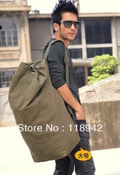 2013 new arrival Canvas large capacity backpack bucket bag mountaineering travel bag luggage male women's handbag