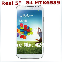 "1:1 S4 SIV phone i9500 real 5.0"" MTK6589 quad core S4 phone Android 4.2JB 960*540 8MP 1G RAM 4G ROM single micro SIM card"