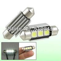50X Wholesale Car led festoon light c5w 3 led smd 3smd 5050 36MM CANBUS OBC error free led lamp