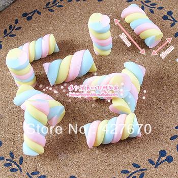 Free shipping flat back resin Marshmallows Skittles clay 10pcs 25*10mm mixed kawaii cabochon home embellishments christmas