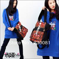 2013 New Arrival Vintage Retro Embroidery Handbags/Totes/Shoulder Bags for Woman Fashion Bohemia Canvas Ladies Bag