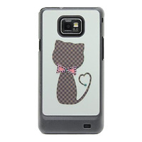 Daimond Rhinestone Plastic Hard case for Samsung Galaxy S2 i9100 SII 9100 Mobile Phone Luxury Bling Back Cover, Free Screen Flim
