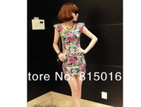 Free shipping sexy slim women dress,club wear package hip dress,Three colors Retro fashion short dress new with cotton fabric