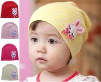 Cotton baby girls cap baby rabbit hat baby beanie hats caps for spring