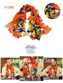 2013 hot sale  fashion scarf  shawl flower scarf   wrap women scarf  pashmina (FREE SHIPPING)