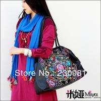 New 2013  Brand Handbag Vintage Embroidery Leather Bag Big SizeTravel Bag National Trend Fashion Woman's