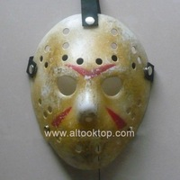 Wholesale 20pcs/lot Jason voorhees vs Freddy hockey festival party mask Halloween masquerade masks (adult size) Yellow color