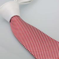 Coachella Men's ties New design White Knot Contrast White / Red Spots Two Tone Gravata Necktie Formal Neck Tie for dress Wedding