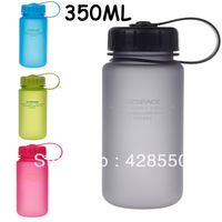 Free shopping,Hot sale 4color (350mL) water bottle UZSPACE Water Bottle outdoor fun sports bottle, shaker bottle sport equipment