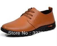 2013 Autumn breathable Men's casual Genuine leather shoes,Super Comfortable Leather,Soft loafers, business men's shoes