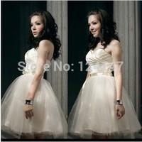 AQ Fashion Bridesmaid dress formal dress short design princess tube top