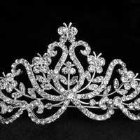 Free shipping butterfly bridal crown wedding tiara Bridal Wedding luxury crystal Hairbands Party Prom Jewelry wholesale 1053