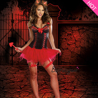 Hot Sale Carnival Costume Sexy Halloween Costume Devil costume Hell Angel Popular Cosplay Adult dress