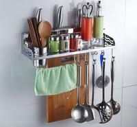 Shelf  stainless steel kitchen accessories storage rack spice rack hook,kitchen Holder & Storage 50cm N-002